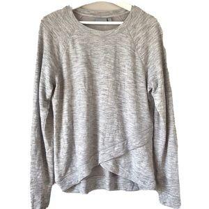 Athleta criss cross pullover gray sweatshirt S